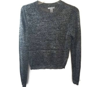Tops - H&M Black and Silver Shimmery Sweater